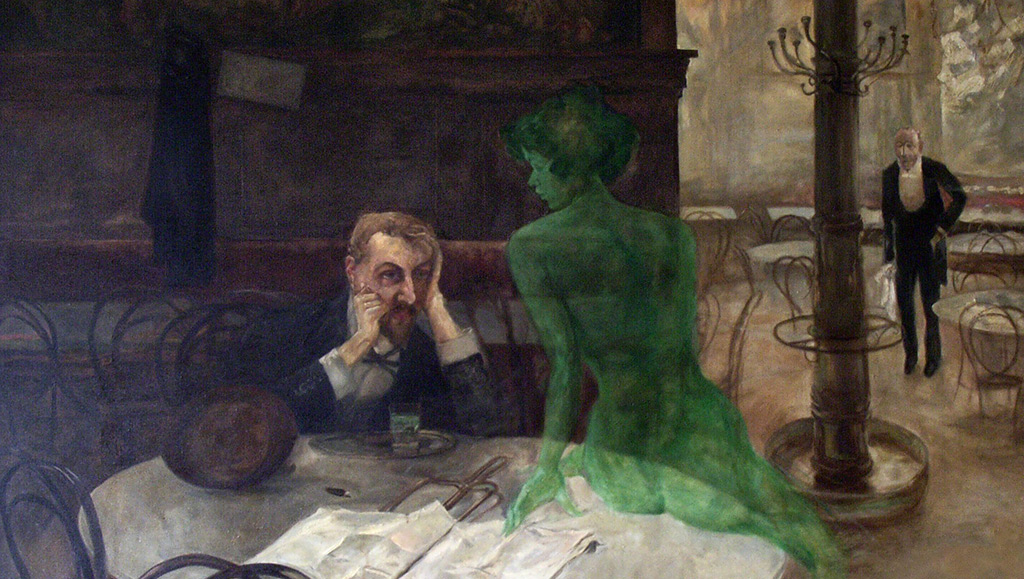 The Absinthe Drinker by Viktor Oliva 1024