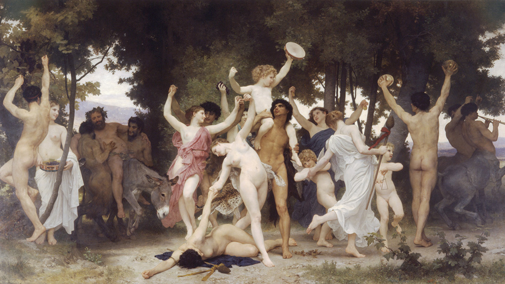 William-Adolphe Bouguereau 281825-190529 - The Youth of Bacchus